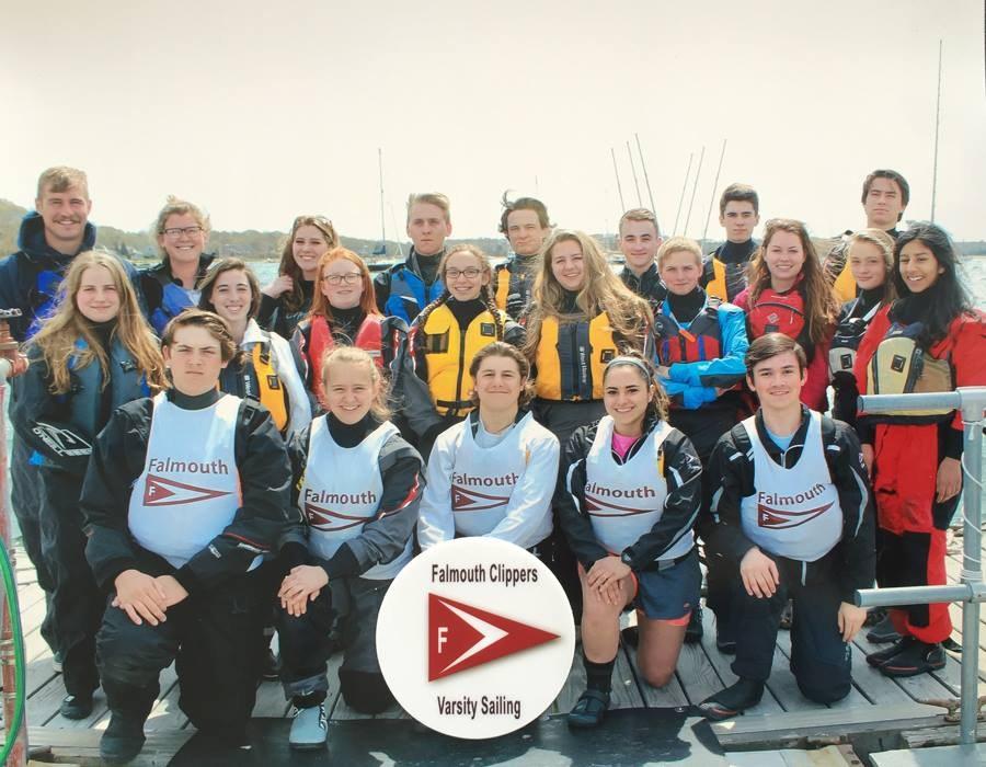 2016 Falmouth-Bourne HS Sailing Team at KYC