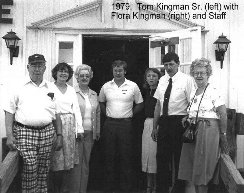 1979 Tom Sr. & Flora Kingman with Staff